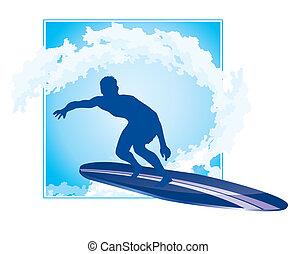 ícone surfando