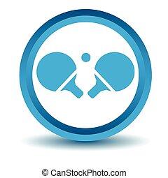 ícone, tênis tabela, azul, 3d
