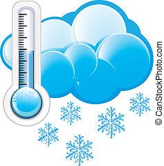 ícone, tempo frio