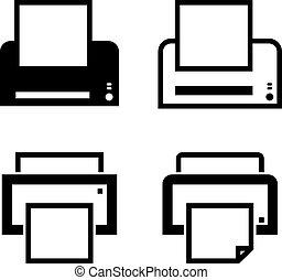 ícone, tinta, impressora, laser, jato