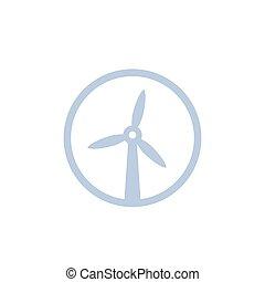 ícone, turbina, moinho de vento, vento
