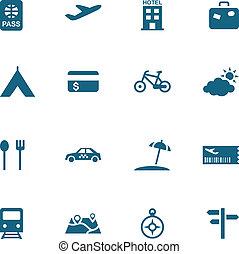 ícone, turismo, lazer, viagem