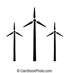 ícone, vento, fundo, branca, isolado, projeto teia, planta,...