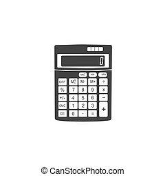 ícone, vetorial, calculadora