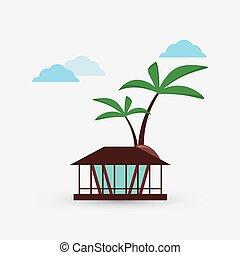 ícone, vetorial, férias, ilustração, desenho