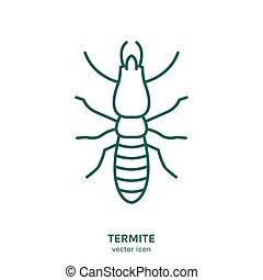 ícone, vetorial, inseto