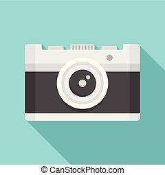 ícone, vindima, estilo, câmera, apartamento