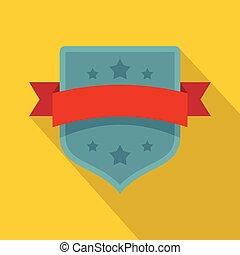 ícone, vindima, estilo, emblema, apartamento