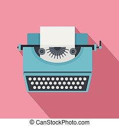 ícone, vindima, estilo, máquina escrever, apartamento