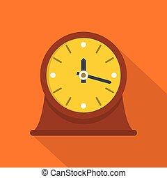 ícone, vindima, estilo, relógio, apartamento