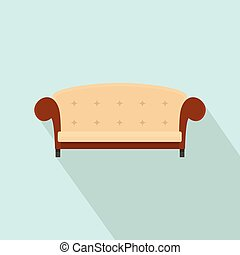 ícone, vindima, estilo, sofá, apartamento
