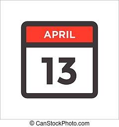 ícone, w, dia, mês, vermelho, calendário, pretas