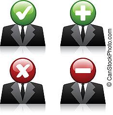 ícones, adicionar, vetorial, usuário, profissional, apagar
