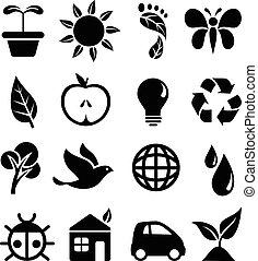 ícones, ambiental