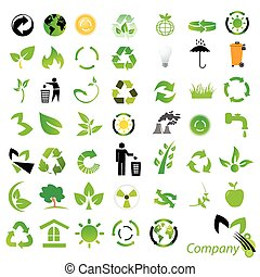 ícones, /, ambiental, reciclagem