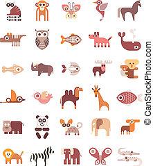 ícones animais