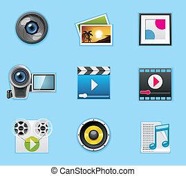 ícones, aplicações, serviços