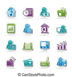 ícones, banco, finanças
