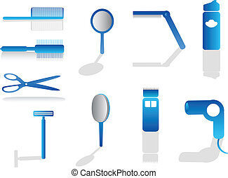 ícones, cabeleireiras