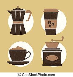 ícones, café