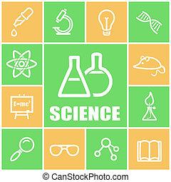 ícones, ciência