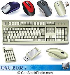ícones, computador, 6