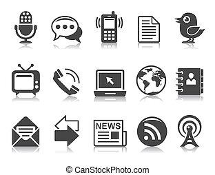 ícones, comunicação