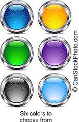 ícones correia fotorreceptora, app, seis, local, internet