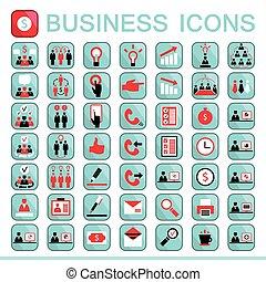 ícones correia fotorreceptora, finanças negócio, escritório