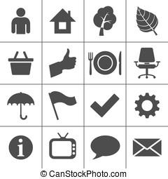 ícones correia fotorreceptora, jogo, -, simplus, série