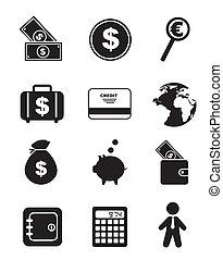 ícones, dinheiro