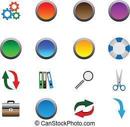 ícones, e, botões, 05.11.12