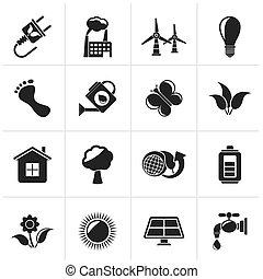 ícones, ecologia, meio ambiente
