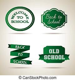 ícones, escola