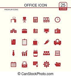 ícones escritório, jogo