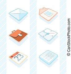 ícones escritório