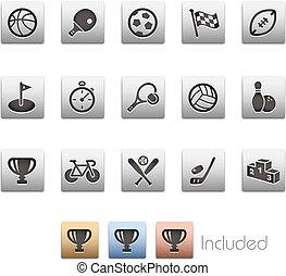 ícones esportes, --, metalbox, série