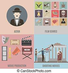 ícones, filmes, criando