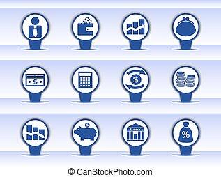 ícones financeiros