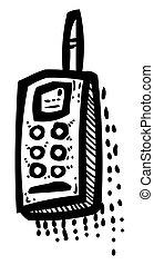 ícones, imagem, telefone, SÍMBOLOS, telefone, caricatura, jogo