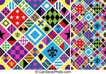 ícones, jóquei, racing., tradicional, jacket., impressão, riding., set., cavalo, seamless, uniform., vetorial, uniformes, experiência., roupas, pattern., illustration., design.