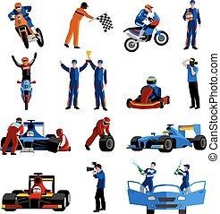 ícones, jogo, raça