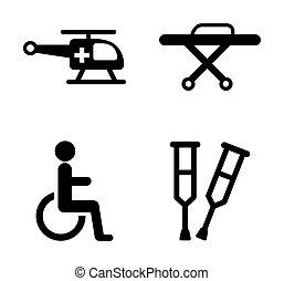ícones, médico
