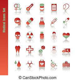 ícones médicos, jogo
