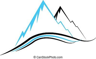 ícones, montanha
