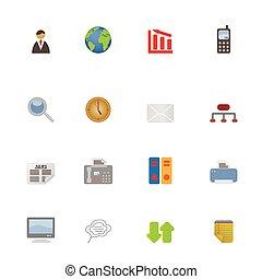 ícones negócio, e, símbolos