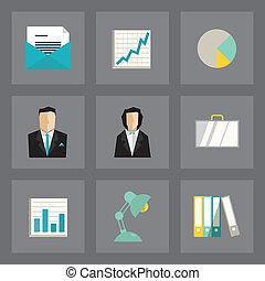 ícones negócio, jogo