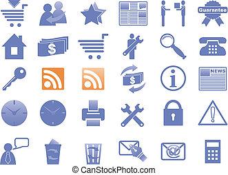 ícones, para, internet, e, website.
