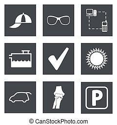 ícones, para, projeto teia, jogo, 13