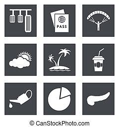 ícones, para, projeto teia, jogo, 22